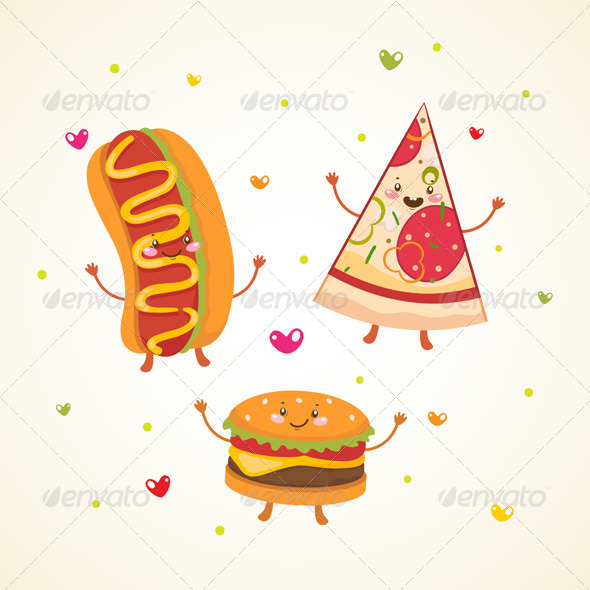 GraphicRiver Fast Food Burger Hot Dog and Pizza 6230892