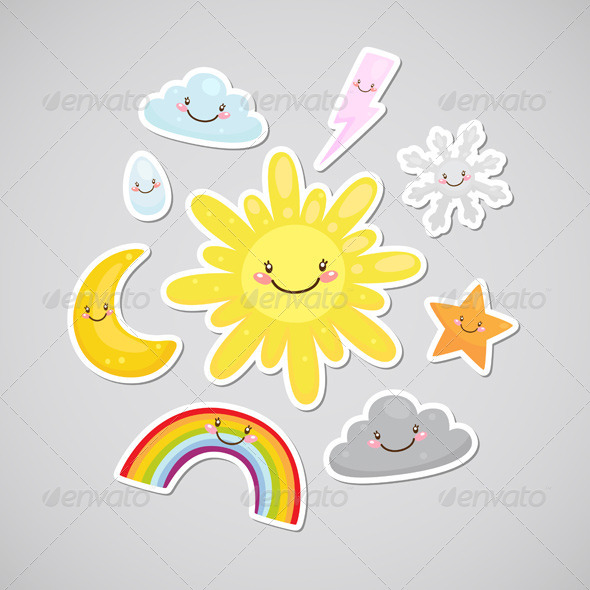 GraphicRiver Weather Stickers 6230911