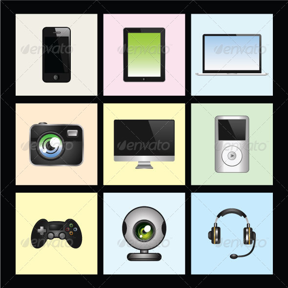 GraphicRiver Modern Gadgets and Mobile Technologies 6230934