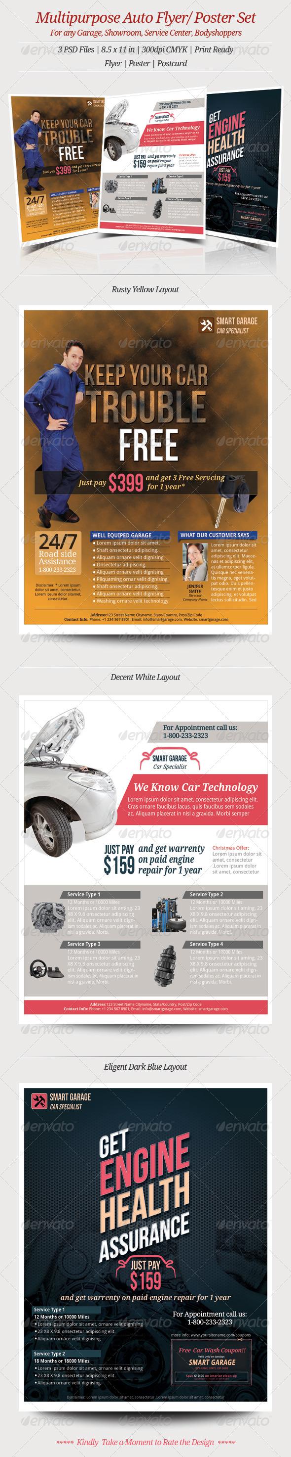 GraphicRiver Multipurpose Auto Flyer Poster 6223025