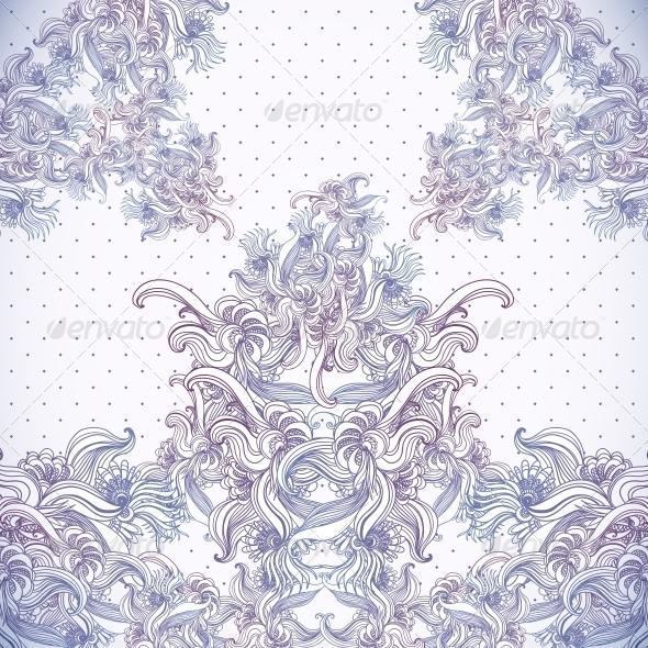 GraphicRiver Vintage Background Baroque Pattern 6231653