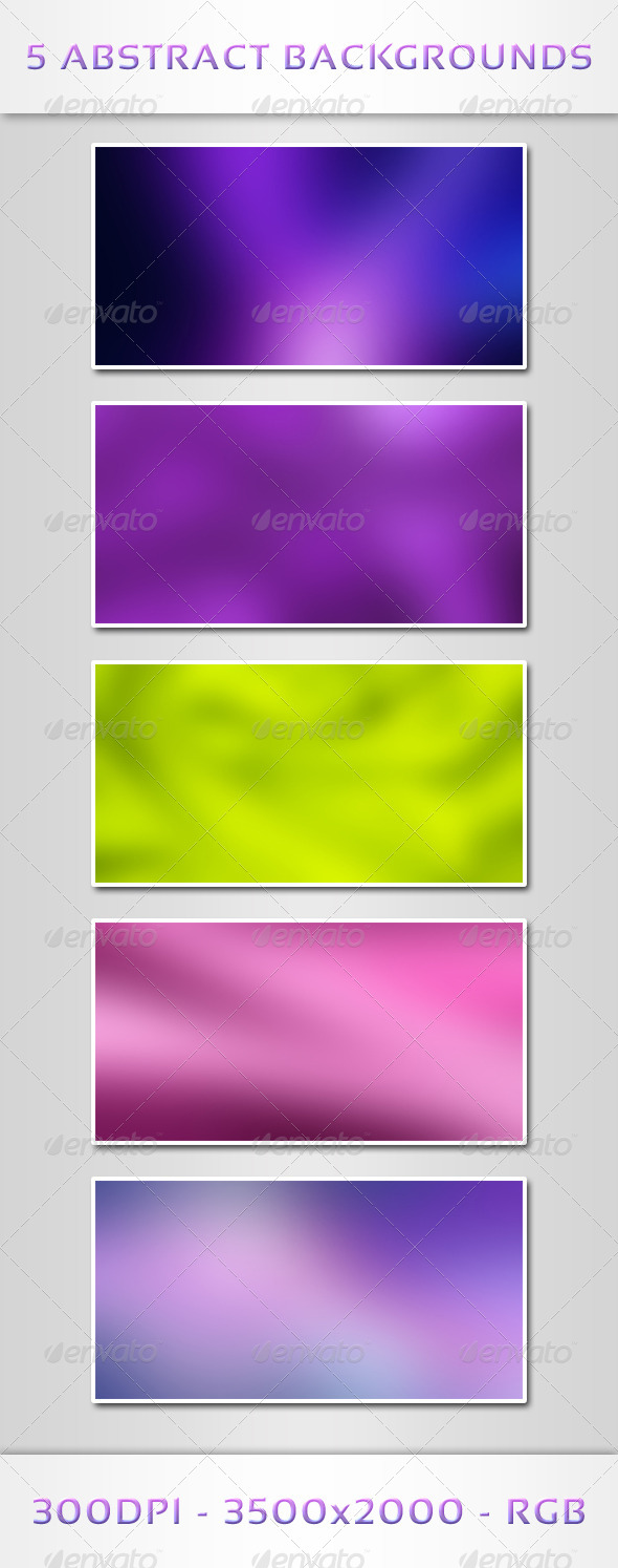 GraphicRiver 5 Abstract Backgrounds 6193735