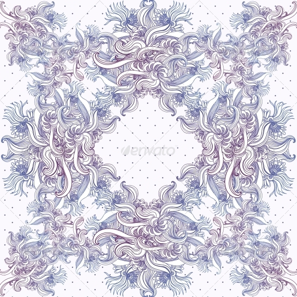 GraphicRiver Seamless Vintage Background Baroque Pattern 6231738