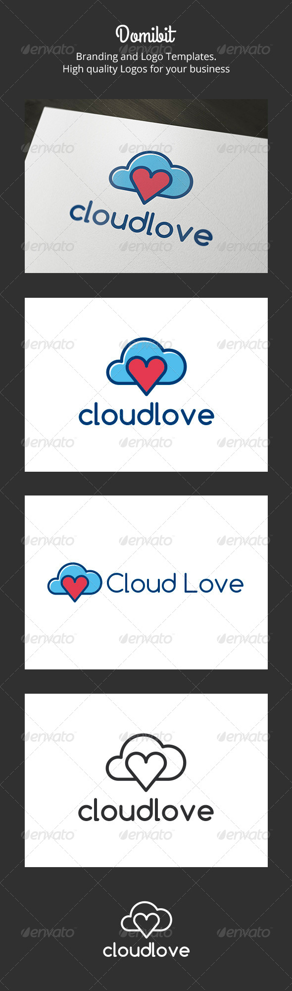 GraphicRiver Cloud Love Logo 6231767