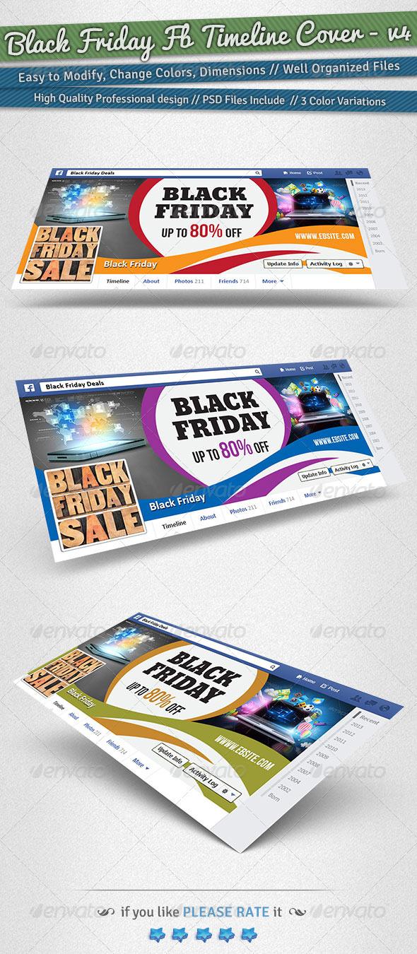 GraphicRiver Black Friday Facebook Timeline Cover Volume 4 6231994