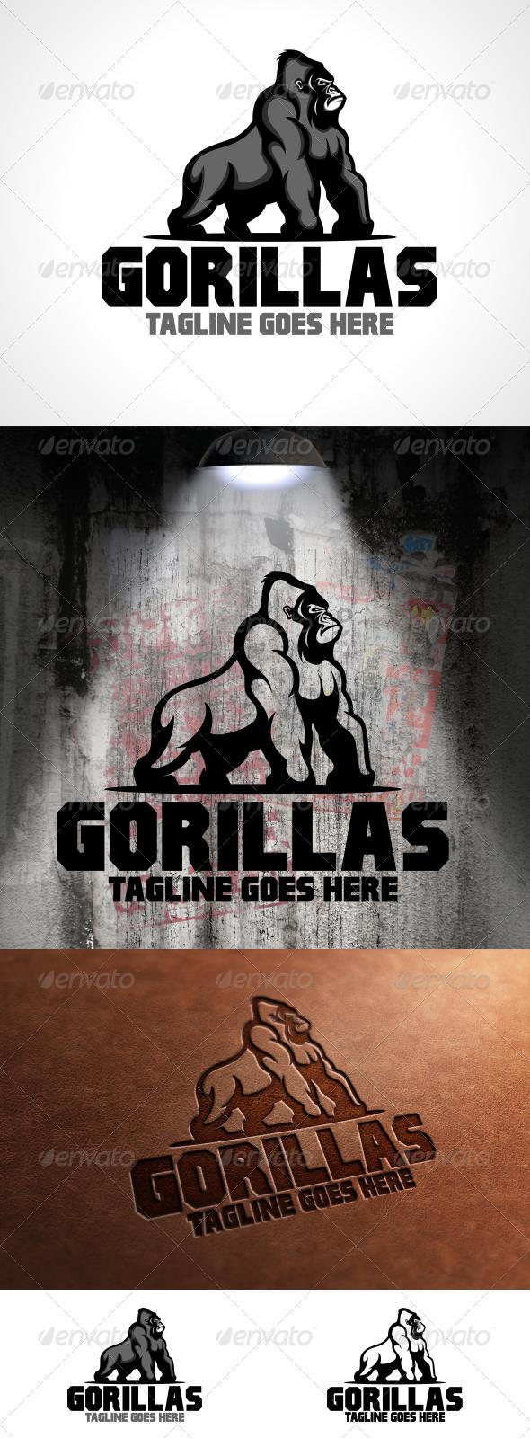 GraphicRiver Gorillas Logo Template 6232006