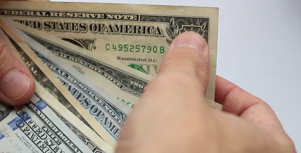 Look Through Of Dollars