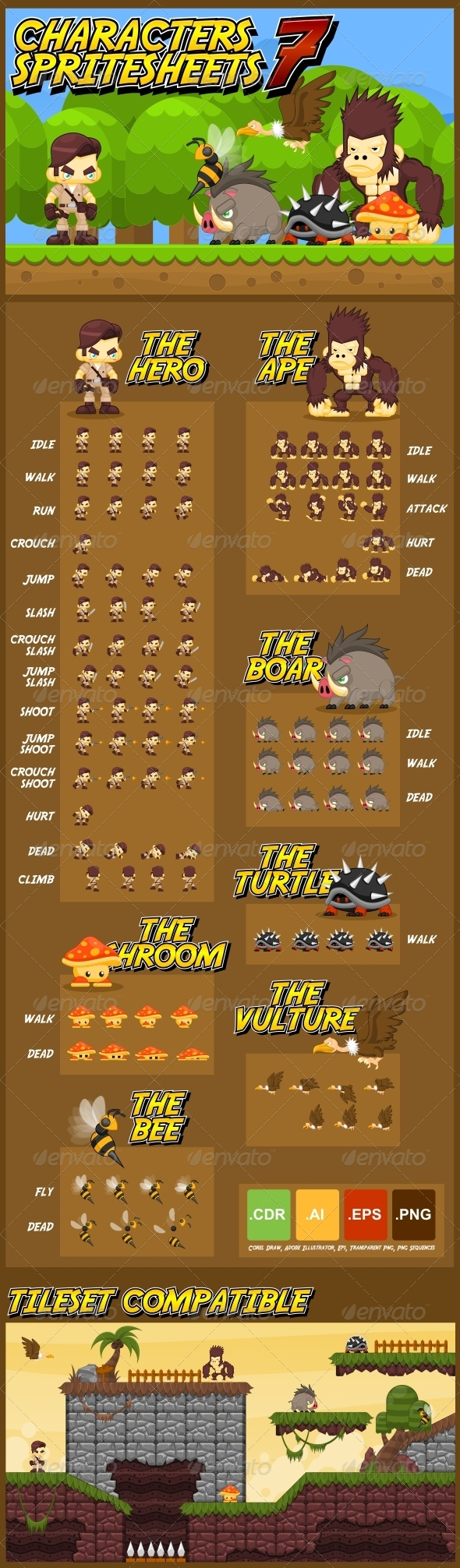 GraphicRiver Characters Spritesheet 7 6232362