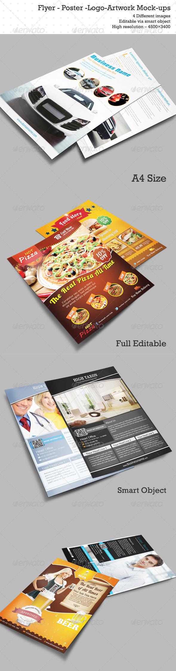 GraphicRiver Flyer Poster Logo Artwork Mock-ups 6232506