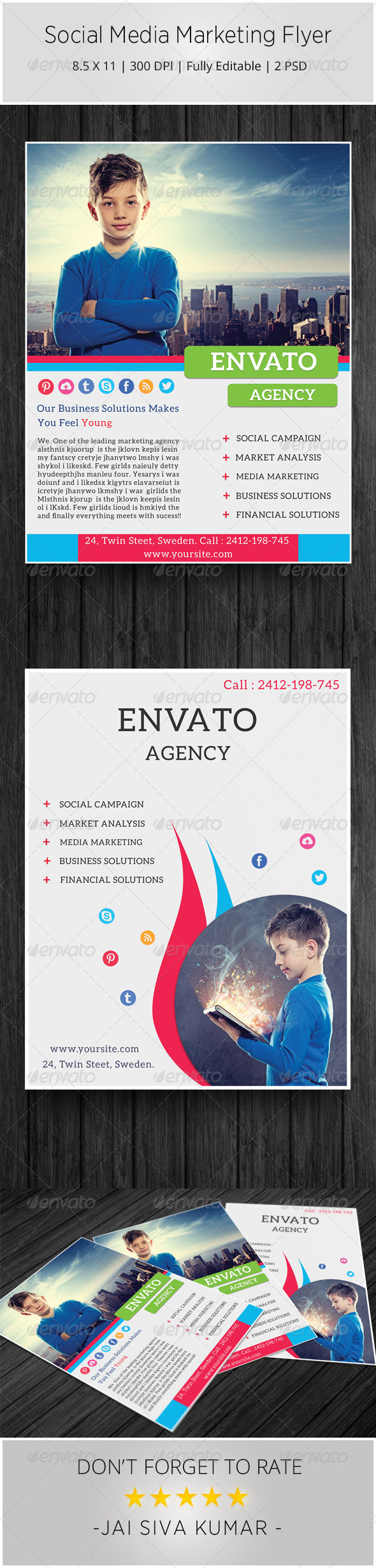 GraphicRiver Social Media Marketing Flyer 6232520