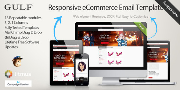Gulf - Responsive eCommerce Email Template - Newsletters Email Templates