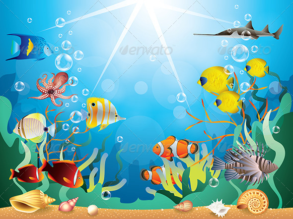 GraphicRiver Underwater World Vector Illustration 6232690