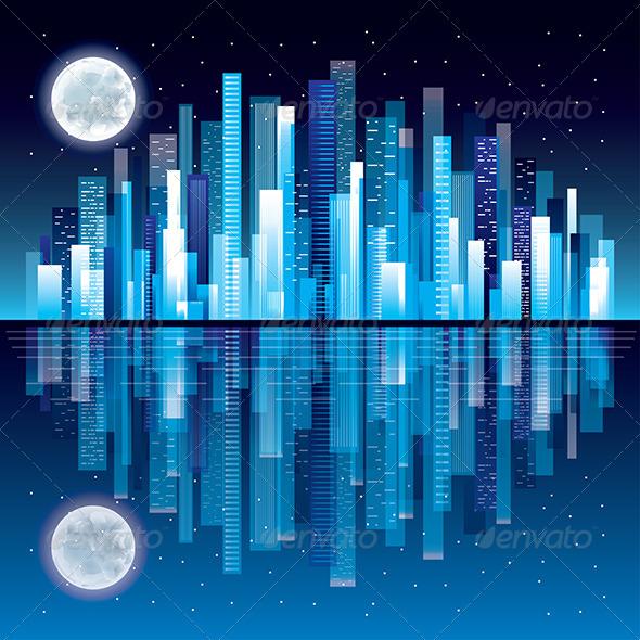 GraphicRiver Night City Panorama 6232694