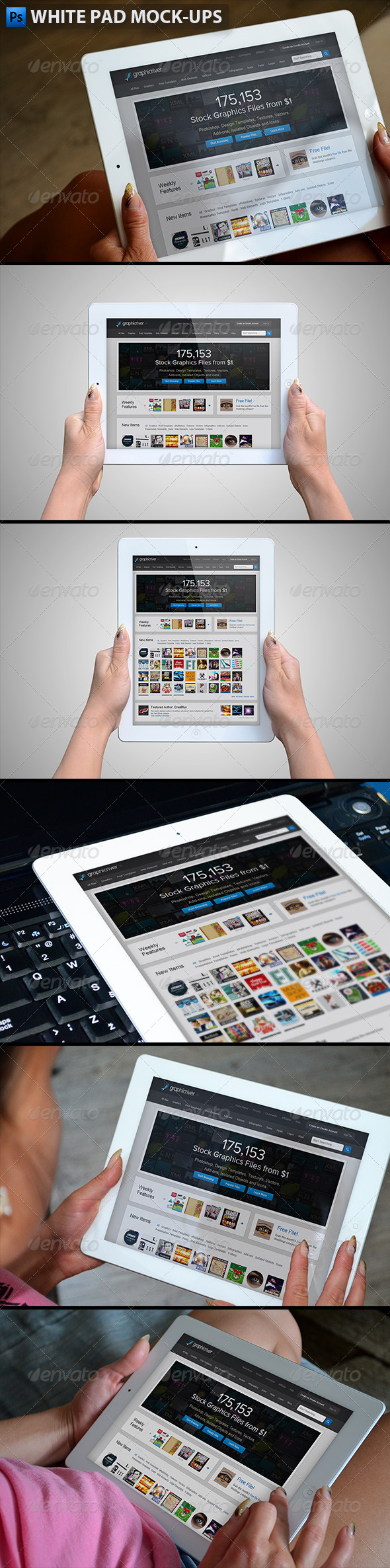 GraphicRiver White Pad Mock-ups 6232922