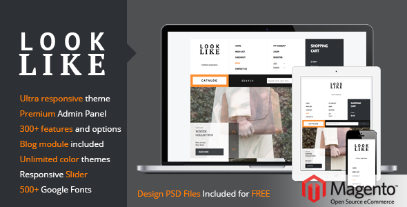ThemeForest LookLike Flat Premium Responsive Magento theme 6232976
