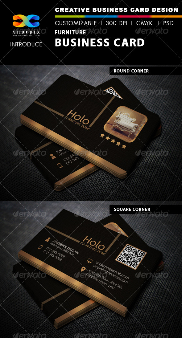 GraphicRiver Furniture Business Card 6232980