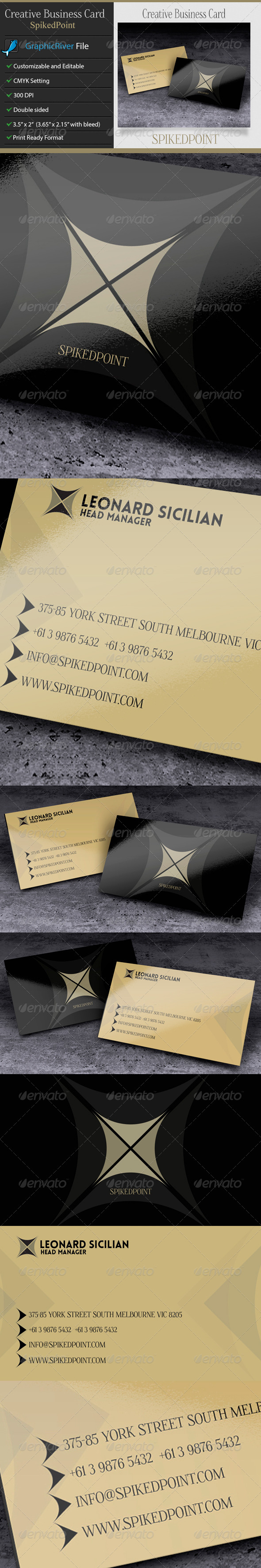 GraphicRiver Creative or Corporate Business Card SpikedPoint 6233051
