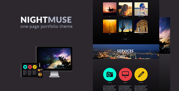 Nightmuse - One Page Portfolio Muse Theme - Creative Muse Templates