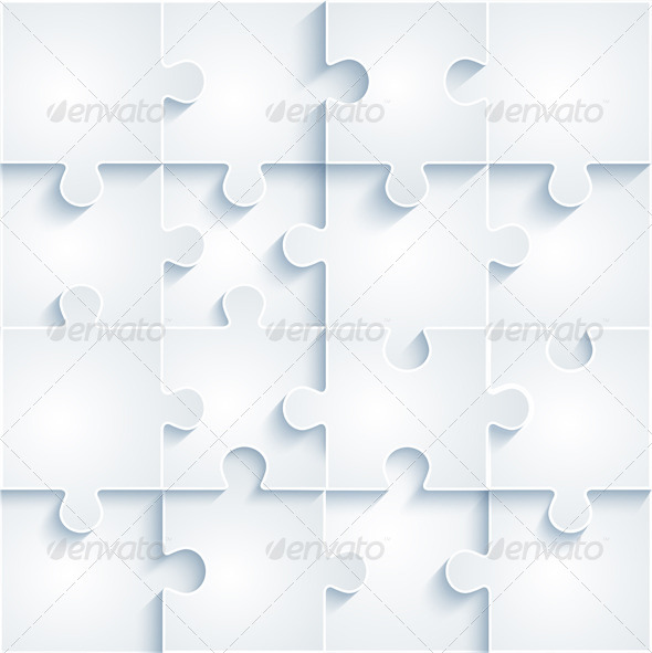 GraphicRiver Parts of Paper Puzzles Business Concept 6233431