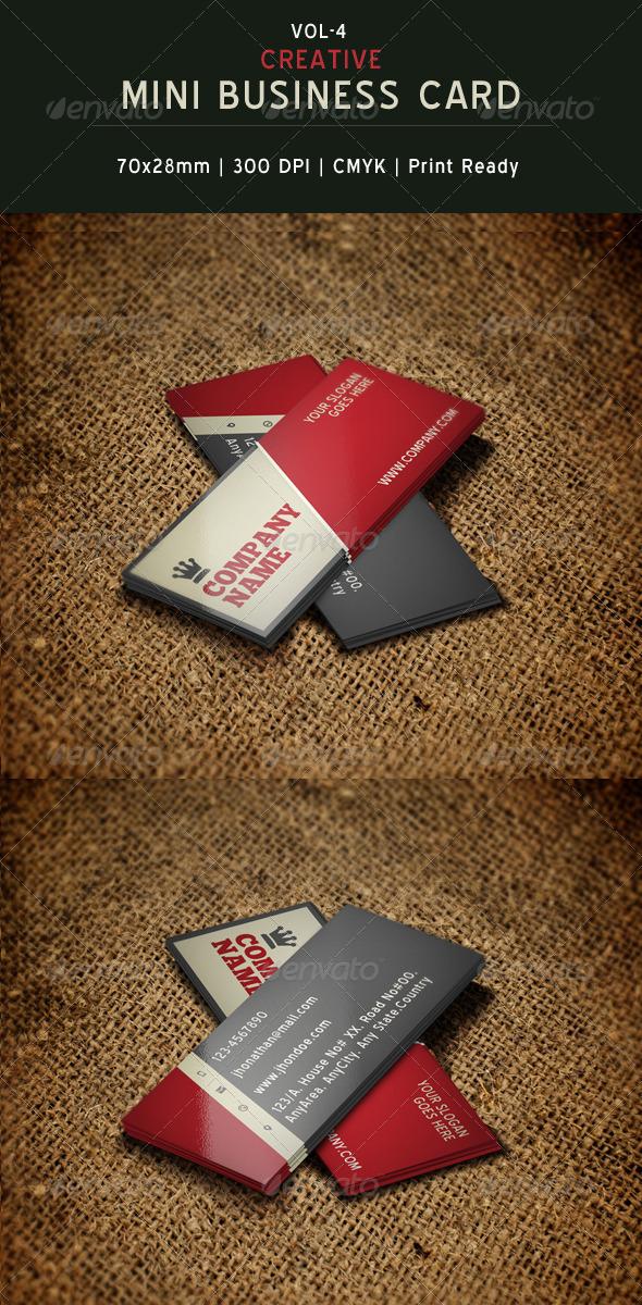 GraphicRiver Creative Mini Business Card Template 04 6233587