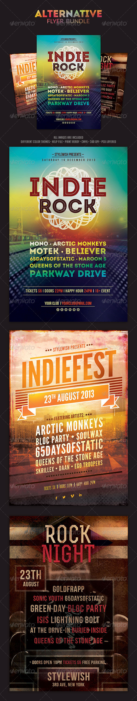 Alternative Flyer Bundle - Concerts Events