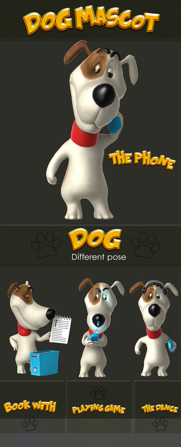 3DOcean Cartoon Dog 6233852