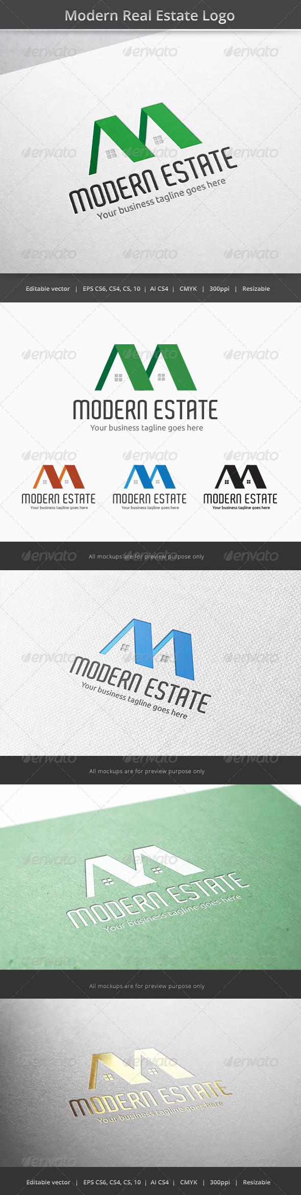 GraphicRiver Modern Real Estate Logo 6234226