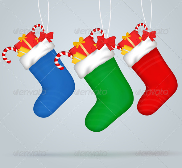 GraphicRiver Christmas Socks 6234471