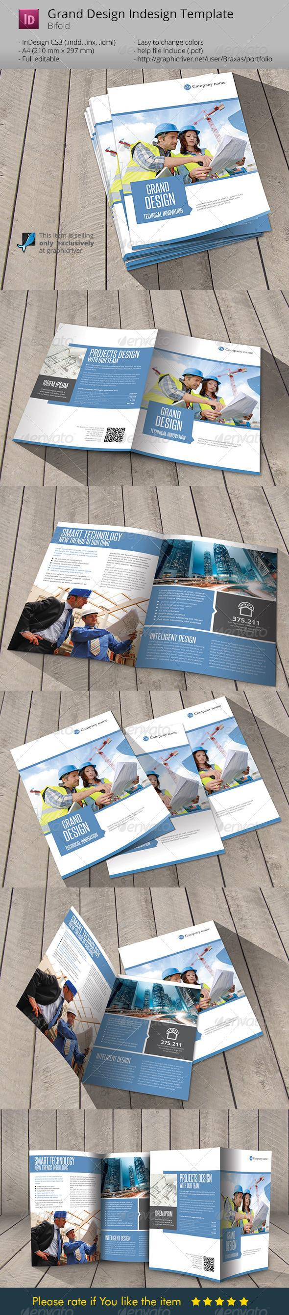 Grand Design _Indesign Template Brochure - Informational Brochures