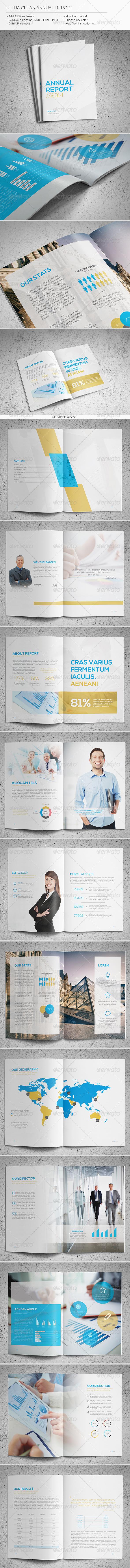 GraphicRiver Ultra Clean Annual Report 6234479