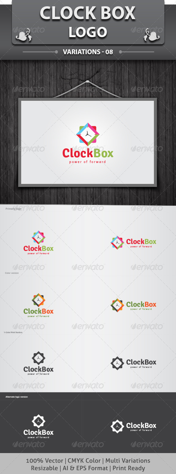GraphicRiver Clock Box Logo 6234488