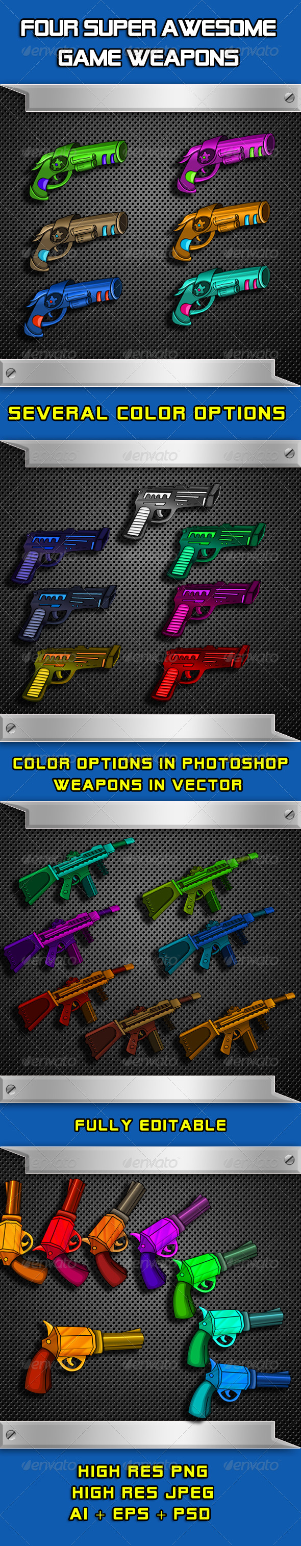 GraphicRiver Awesome Game Weapons 6234595