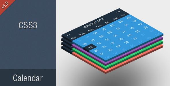 CodeCanyon Litie Flat CSS3 Calendar 6234671