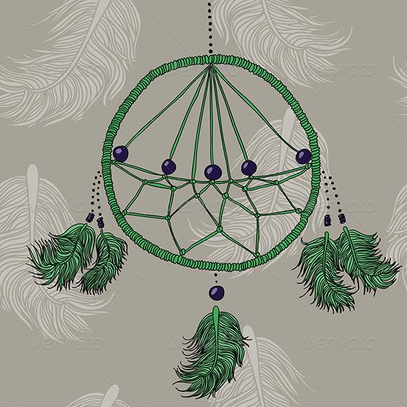 GraphicRiver Green Dreamcatcher 6234678