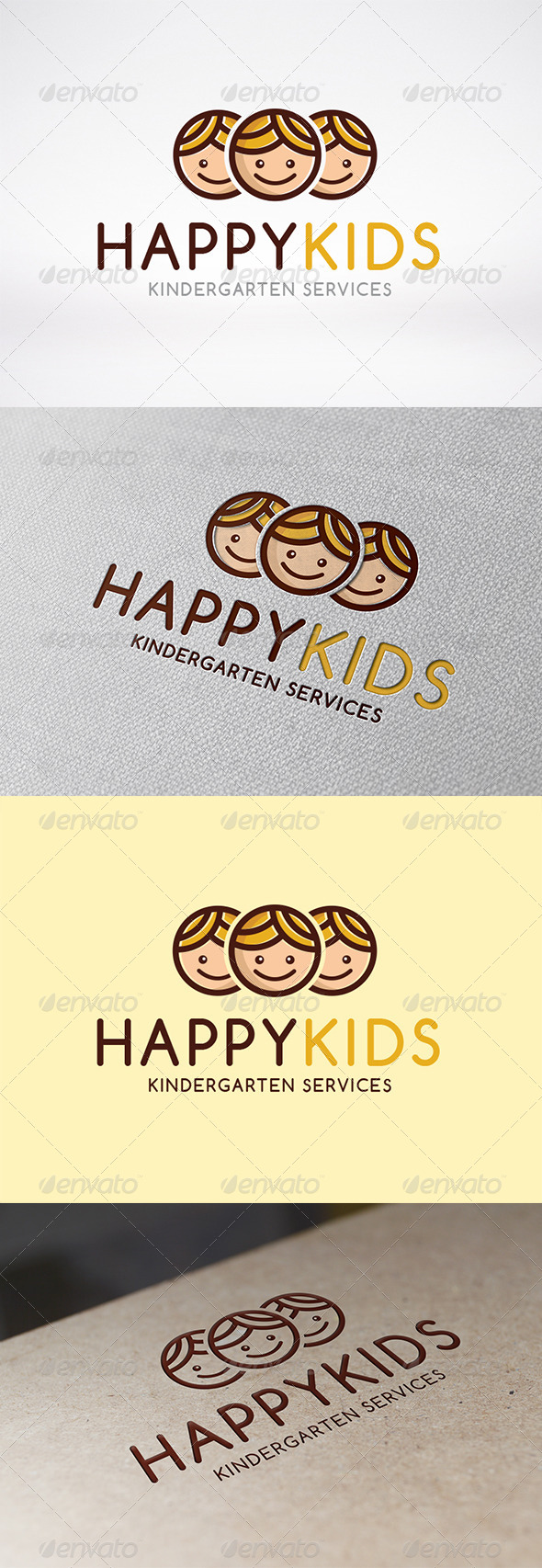 GraphicRiver Happy Kids Logo Template 6234764