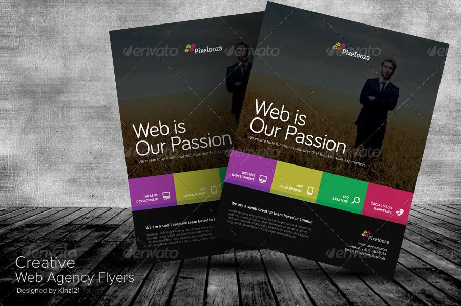 Creative Web Agency Flyers by kinzi21 – Web Flyer