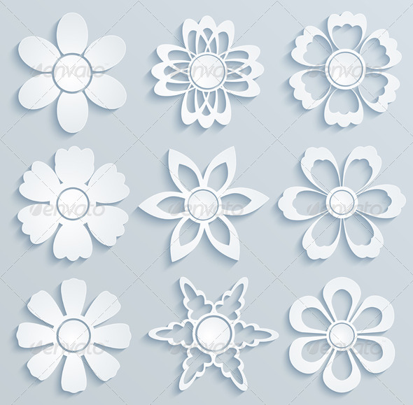 GraphicRiver Paper Flowers 6234857