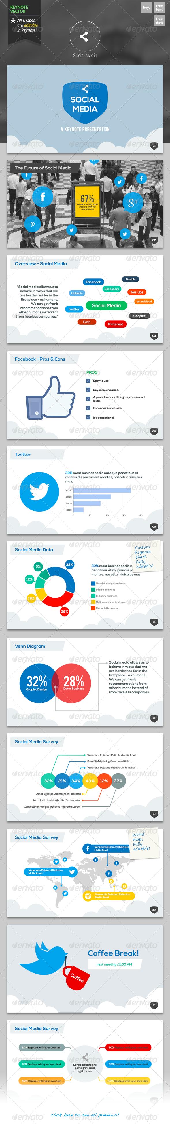 GraphicRiver Social Media Keynote Template 6235017