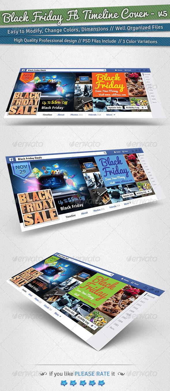 GraphicRiver Black Friday Facebook Timeline Cover Volume 5 6235039