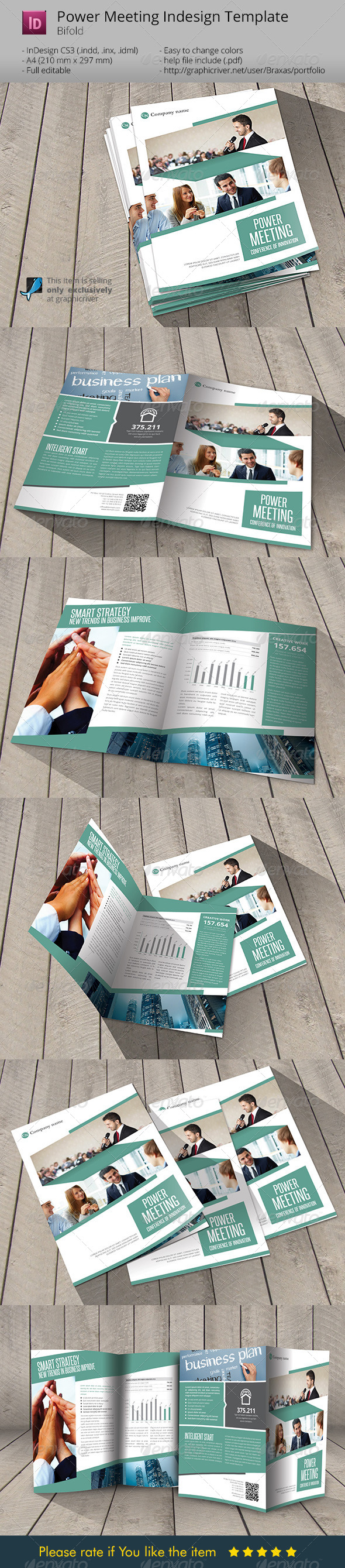 GraphicRiver Power Meeting Indesign Template Brochure 6235183
