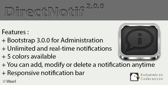 CodeCanyon DirectNotif Real-time notification system 6235294