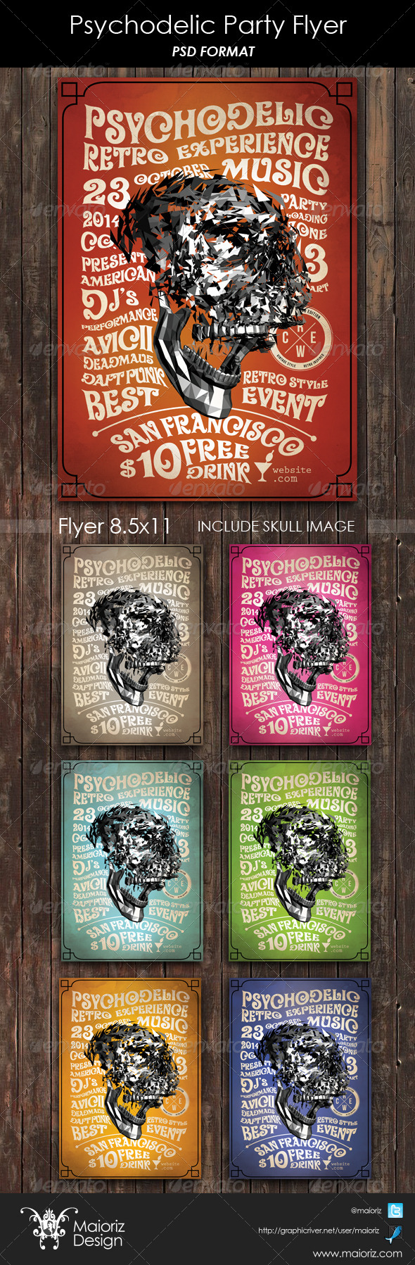 GraphicRiver Psychodelic Party Flyer 6235367