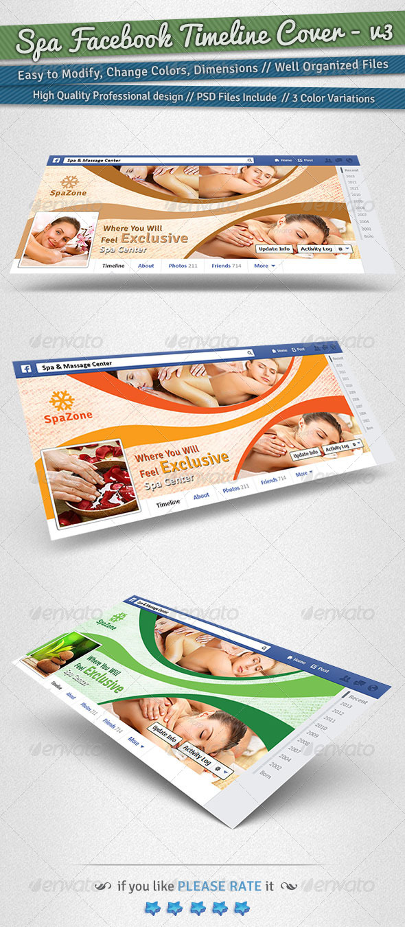 GraphicRiver Spa Facebook Timeline Cover Volume 3 6235391