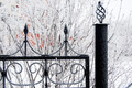 Winter iron fence - PhotoDune Item for Sale
