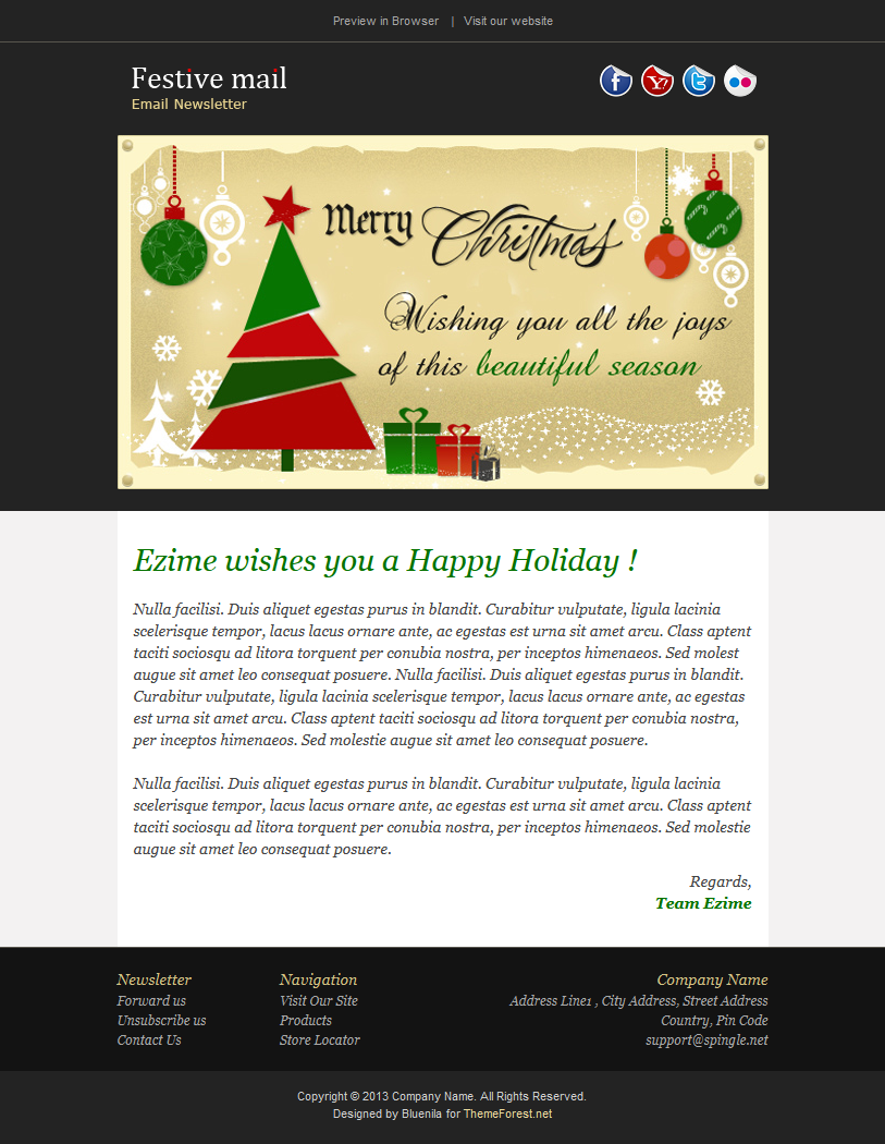 Festive2 - Christmas Newsletter Template