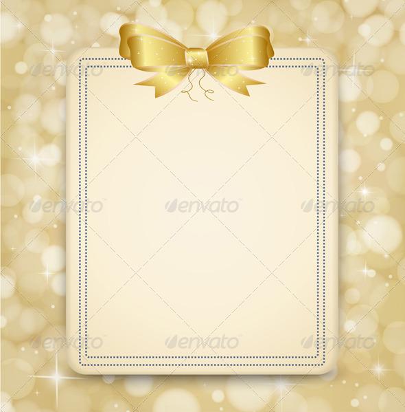 GraphicRiver Festive Golden Background 6235898