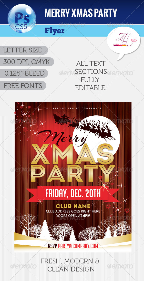 GraphicRiver Merry Xmas Party Flyer 6236042