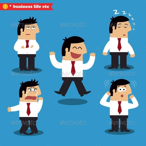GraphicRiver Manager Emotions in Poses 6236291