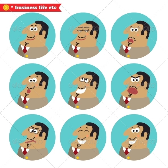 GraphicRiver Boss Facial Emotions 6236293