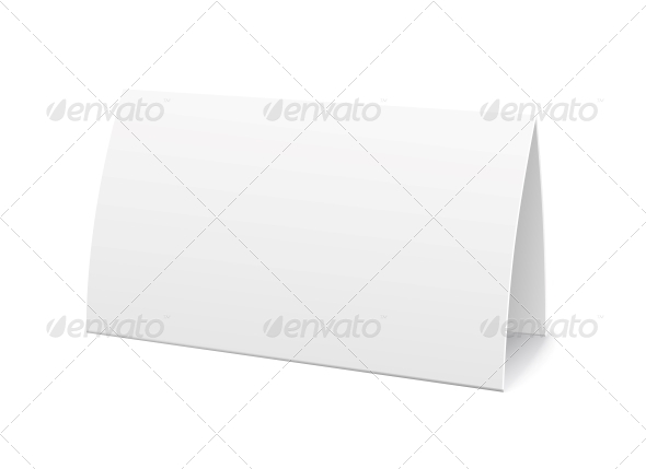 GraphicRiver Paper Table Card Sign Template 6236378